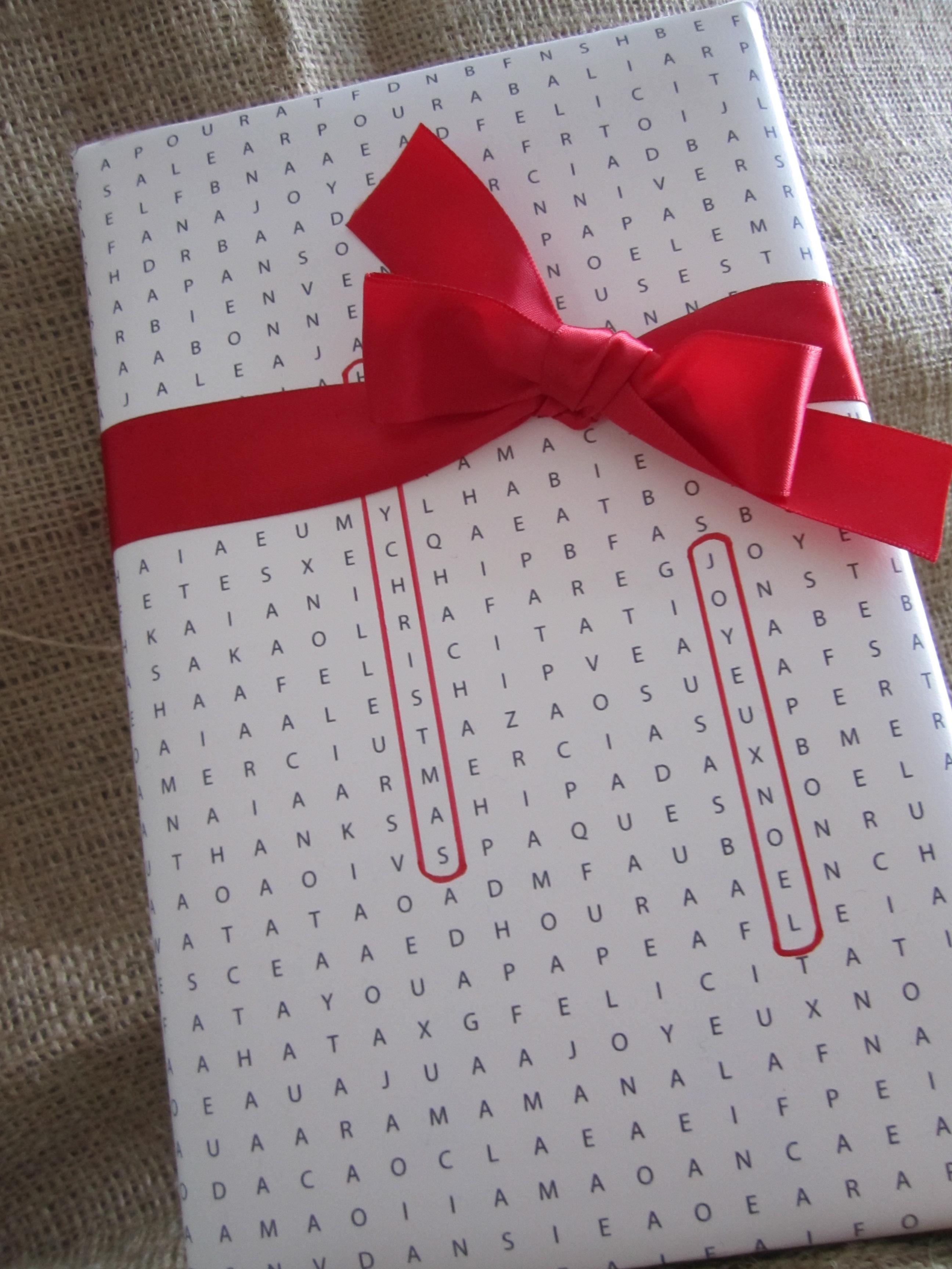 Papier Cadeau Mots Crois S Des Papiers Et Des Papilles