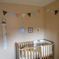 Une guirlande de fanions pour la chambre de bébé